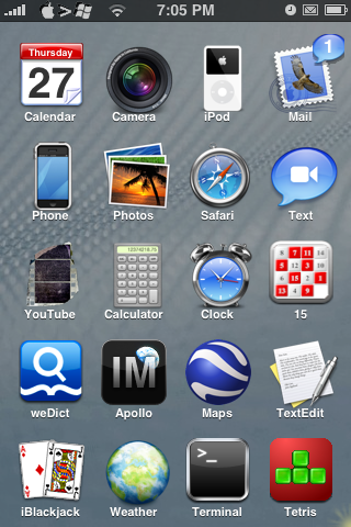 Modified iPhone Desktop/Springboard