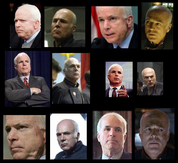 John McCain or Colonel Tigh?
