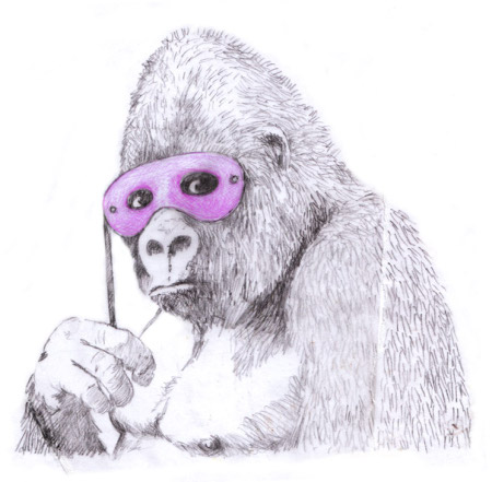Banksy Purple Gorilla