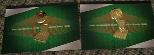 2008-09 Celtics Season Tickets