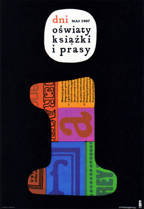 Poster promoting Polish books and culture
