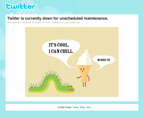 Chill Cone & Constructive Caterpillar say Twitter is Down