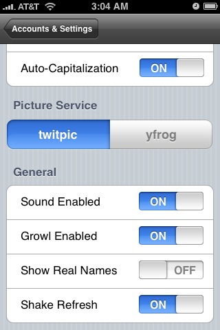 Tweetdeck general settings