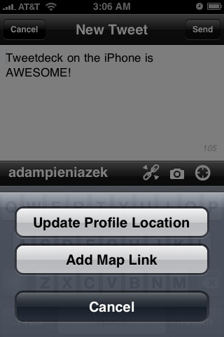 Update bio location and add a map link (works on non-GPS too)